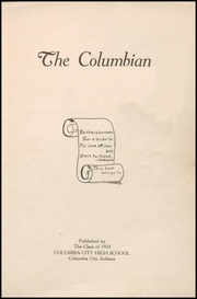 Page 5, 1924 Edition, Columbia City High School - Columbian Yearbook (Columbia City, IN) online yearbook collection