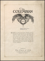 Page 5, 1926 Edition, Columbia City High School - Columbian Yearbook (Columbia City, IN) online yearbook collection