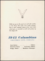 Page 7, 1943 Edition, Columbia City High School - Columbian Yearbook (Columbia City, IN) online yearbook collection