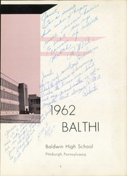 Page 7, 1962 Edition, Baldwin High School - Balthi Yearbook (Pittsburgh, PA) online yearbook collection