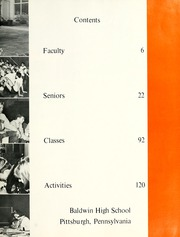 Page 9, 1965 Edition, Baldwin High School - Balthi Yearbook (Pittsburgh, PA) online yearbook collection