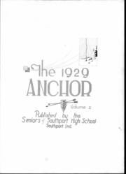 Page 3, 1929 Edition, Southport High School - Anchor Yearbook (Indianapolis, IN) online yearbook collection