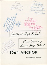 Page 5, 1964 Edition, Southport High School - Anchor Yearbook (Indianapolis, IN) online yearbook collection