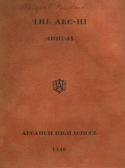 1936 Edition, Arcanum High School - Arcette Yearbook (Arcanum, OH)
