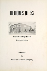 Page 5, 1953 Edition, Grovertown High School - Aries Yearbook (Grovertown, IN) online yearbook collection