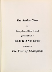 Page 5, 1959 Edition, Perrysburg High School - Black and Gold Yearbook (Perrysburg, OH) online yearbook collection