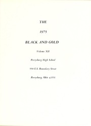 Page 5, 1975 Edition, Perrysburg High School - Black and Gold Yearbook (Perrysburg, OH) online yearbook collection