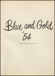 Page 5, 1954 Edition, Foley High School - Blue and Gold Yearbook (Foley, AL) online yearbook collection