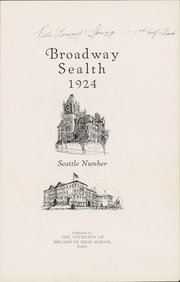 Page 9, 1924 Edition, Broadway High School - Sealth Yearbook (Seattle, WA) online yearbook collection