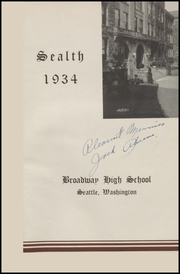 Page 5, 1934 Edition, Broadway High School - Sealth Yearbook (Seattle, WA) online yearbook collection