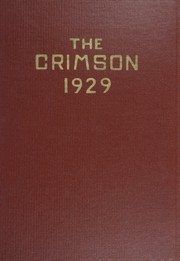 Page 1, 1929 Edition, East Providence High School - Crimson Yearbook (East Providence, RI) online yearbook collection