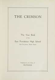 Page 5, 1929 Edition, East Providence High School - Crimson Yearbook (East Providence, RI) online yearbook collection