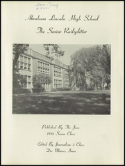 Page 5, 1958 Edition, Abraham Lincoln High School - Railsplitter Yearbook (Des Moines, IA) online yearbook collection