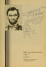 Page 7, 1935 Edition, Abraham Lincoln High School - Lincolnian Yearbook (Los Angeles, CA) online yearbook collection