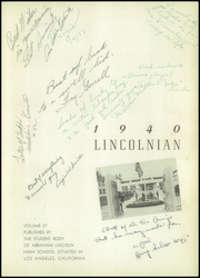 Page 7, 1940 Edition, Abraham Lincoln High School - Lincolnian Yearbook (Los Angeles, CA) online yearbook collection
