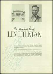 Page 8, 1940 Edition, Abraham Lincoln High School - Lincolnian Yearbook (Los Angeles, CA) online yearbook collection
