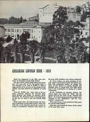 Page 12, 1963 Edition, Abraham Lincoln High School - Lincolnian Yearbook (Los Angeles, CA) online yearbook collection