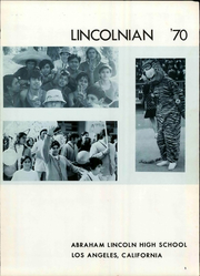 Page 7, 1970 Edition, Abraham Lincoln High School - Lincolnian Yearbook (Los Angeles, CA) online yearbook collection