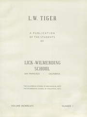 Page 5, 1948 Edition, Lick Wilmerding High School - Commencement Yearbook (San Francisco, CA) online yearbook collection