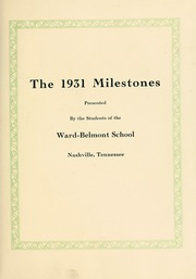Page 7, 1931 Edition, Harpeth Hall School - Milestones Iris Yearbook (Nashville, TN) online yearbook collection