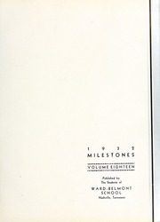 Page 7, 1932 Edition, Harpeth Hall School - Milestones Iris Yearbook (Nashville, TN) online yearbook collection