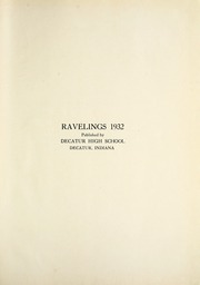 Page 5, 1932 Edition, Decatur High School - Ravelings Yearbook (Decatur, IN) online yearbook collection