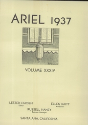 Page 5, 1937 Edition, Santa Ana High School - Ariel Yearbook (Santa Ana, CA) online yearbook collection
