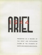 Page 7, 1944 Edition, Santa Ana High School - Ariel Yearbook (Santa Ana, CA) online yearbook collection