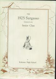 Page 9, 1925 Edition, Kokomo High School - Sargasso Yearbook (Kokomo, IN) online yearbook collection