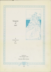 Page 7, 1927 Edition, Kokomo High School - Sargasso Yearbook (Kokomo, IN) online yearbook collection