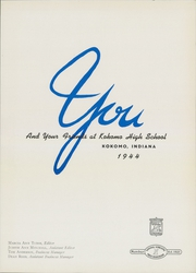 Page 5, 1944 Edition, Kokomo High School - Sargasso Yearbook (Kokomo, IN) online yearbook collection
