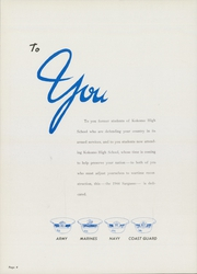 Page 8, 1944 Edition, Kokomo High School - Sargasso Yearbook (Kokomo, IN) online yearbook collection