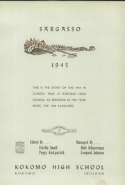 Page 5, 1945 Edition, Kokomo High School - Sargasso Yearbook (Kokomo, IN) online yearbook collection