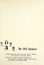 Page 5, 1948 Edition, Kokomo High School - Sargasso Yearbook (Kokomo, IN) online yearbook collection