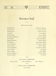 Page 17, 1922 Edition, Bluffton High School - Retrospect Yearbook (Bluffton, IN) online yearbook collection