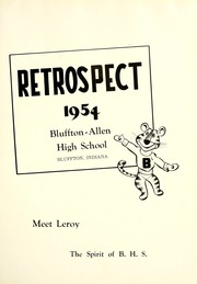Page 5, 1954 Edition, Bluffton High School - Retrospect Yearbook (Bluffton, IN) online yearbook collection