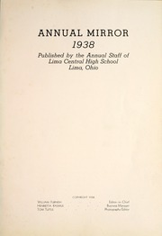 Page 5, 1938 Edition, Lima Central High School - Annual Mirror Yearbook (Lima, OH) online yearbook collection