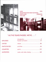 Page 5, 1976 Edition, Washington High School - Lens Yearbook (Portland, OR) online yearbook collection