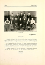 Page 17, 1923 Edition, Hagerstown High School - Epitome Yearbook (Hagerstown, IN) online yearbook collection