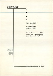 Page 7, 1935 Edition, Hagerstown High School - Epitome Yearbook (Hagerstown, IN) online yearbook collection
