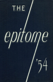 Page 1, 1954 Edition, Hagerstown High School - Epitome Yearbook (Hagerstown, IN) online yearbook collection