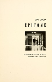 Page 5, 1960 Edition, Hagerstown High School - Epitome Yearbook (Hagerstown, IN) online yearbook collection
