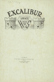 Page 3, 1922 Edition, Van Wert High School - Excalibur Yearbook (Van Wert, OH) online yearbook collection
