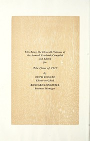 Page 10, 1929 Edition, Van Wert High School - Excalibur Yearbook (Van Wert, OH) online yearbook collection