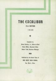 Page 5, 1939 Edition, Van Wert High School - Excalibur Yearbook (Van Wert, OH) online yearbook collection
