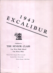 Page 3, 1943 Edition, Van Wert High School - Excalibur Yearbook (Van Wert, OH) online yearbook collection