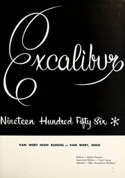 Page 5, 1956 Edition, Van Wert High School - Excalibur Yearbook (Van Wert, OH) online yearbook collection