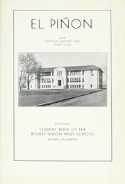 Page 5, 1934 Edition, Bishop Union High School - El Pinon Yearbook (Bishop, CA) online yearbook collection