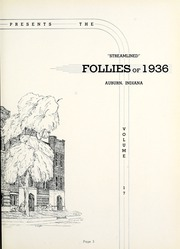 Page 7, 1936 Edition, Auburn High School - Follies Yearbook (Auburn, IN) online yearbook collection