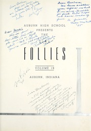 Page 5, 1938 Edition, Auburn High School - Follies Yearbook (Auburn, IN) online yearbook collection